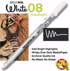 Gelly Roll Classic (08) Medium-White Pen
