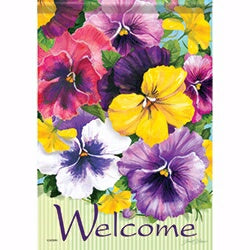 "Flag-Garden-Positively Pansies (12.5"" x 18"")"
