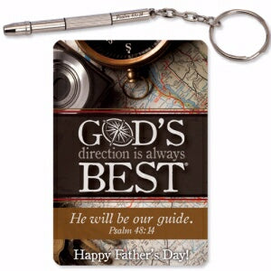 Dad-Mini Repair 4-In-1 Tool (Psalm 48:14) Keyring