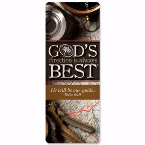 Jumbo Bookmark-God's Direction Is Always Best (Psa
