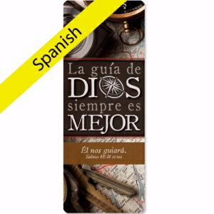 Jumbo Bookmark-God's Direction Is Always Best-Spanish