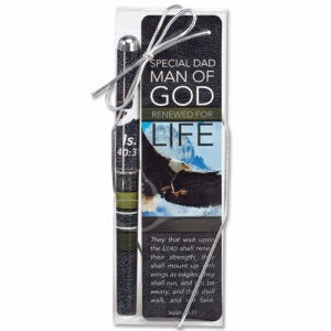 Dad-Man Of God/Renewed Pen & Bookmark (Is Gift Set