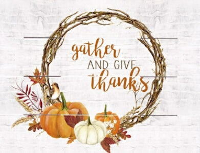 Rustic Pallet Art-Gather And Give Thanks (9 x 12)
