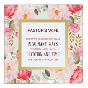 "Framed Art-Tabletop-Pastor's Wife (7"" x 7"")"