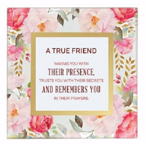 "Framed Art-Tabletop-True Friend (7"" x 7"")"