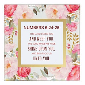 "Framed Art-Tabletop-Numbers 6:24-25 (7"" x 7"")"