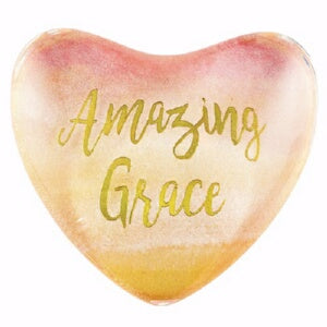 "Magnet-Glass Heart-Amazing Grace (1.75"" X 1.75"")"