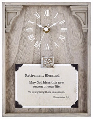 Clock-Framed Tabletop-Retirement (Ecclesiastes 3:1