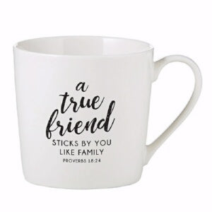 Mug-Cafe-True Friend (14 Oz)