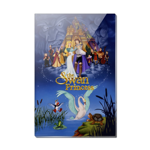 The Swan Princess Movie Poster Art Rectangle Acrylic Fridge Refrigerator Magnet