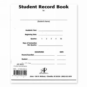 LIFEPAC Home School Resources Set of 4 Student Record Books