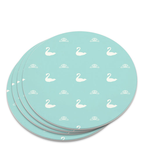 The Swan Princess Blue Pattern Baby Shower Novelty Coaster Set