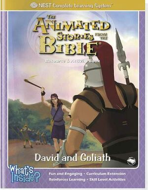 David And Goliath Activity And Coloring Book - Instant Download