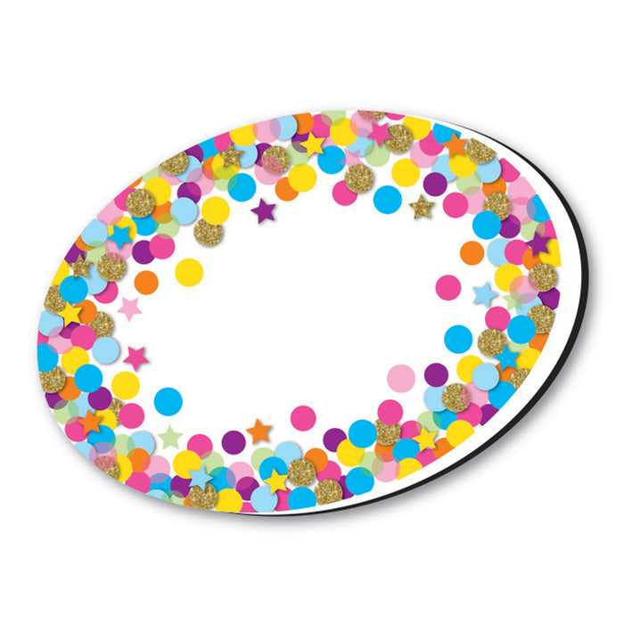 (6 Ea) Whiteboard Eraser Confetti Oval Magnetic