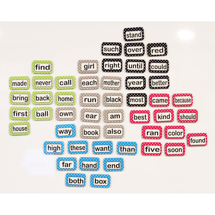 (3 Pk) Magnetic Die Cut Sight Words 2nd 100 Words Level 2