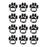 (5 Ea) Die Cut Magnets Black Paws