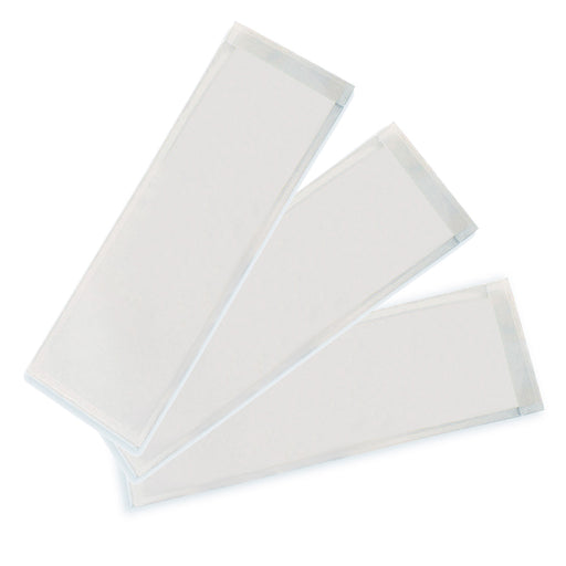 Xsmall Name Plate 3.25x10.5 25pk Clear View Self Adhesive Pockets