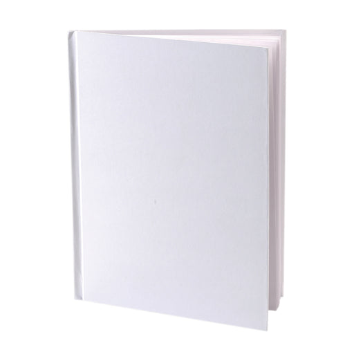 White Hardcover Blank Book 8-1-8x6-3-8