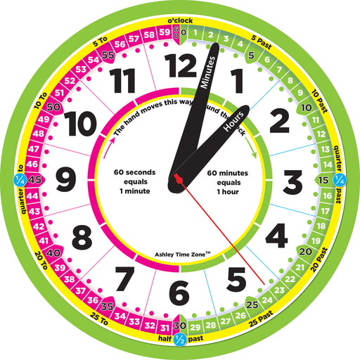 12in Advanced Instruction Clock Time Zone