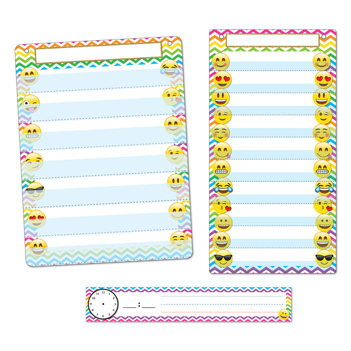 3pc Emoji Pocket Chart Set Smart Poly