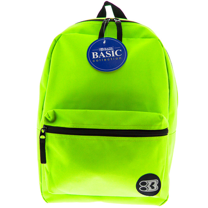 (2 Ea) 16in Lime Green Collection Backpk