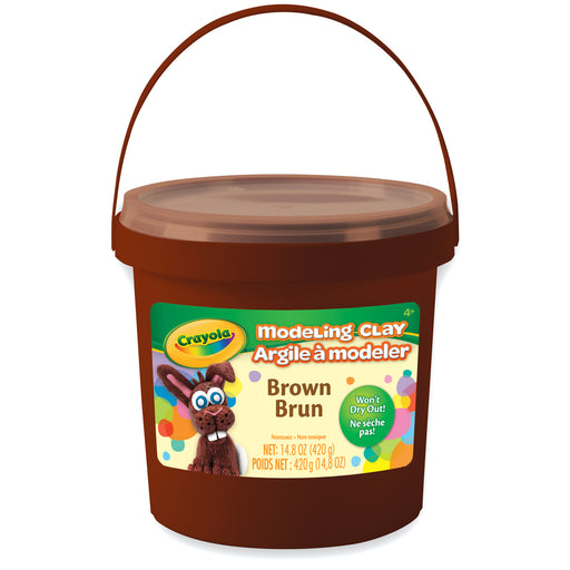 1 Lb Bucket Modeling Clay Brown