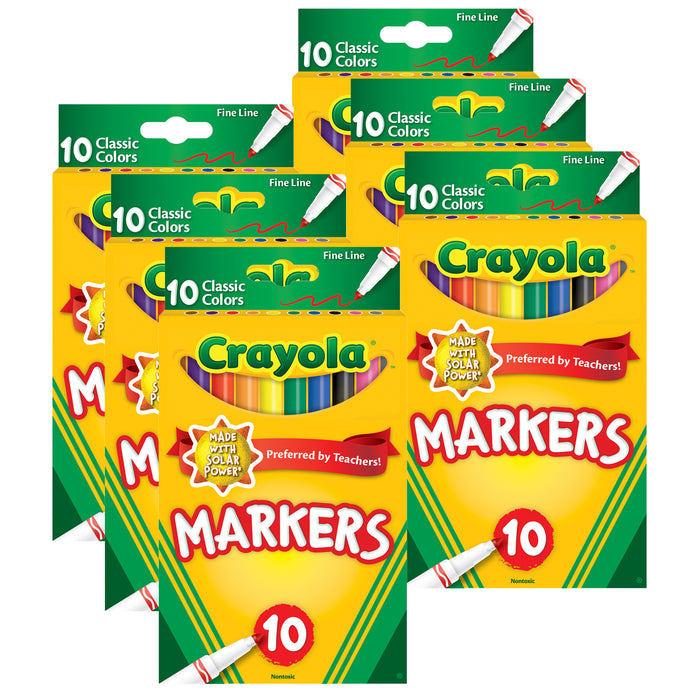 (6 Pk) 10ct Fine Line Colormax Markers Classic