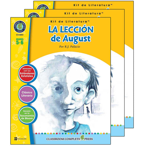 (3 Ea) La Leccion De August Lit Kit Spanish