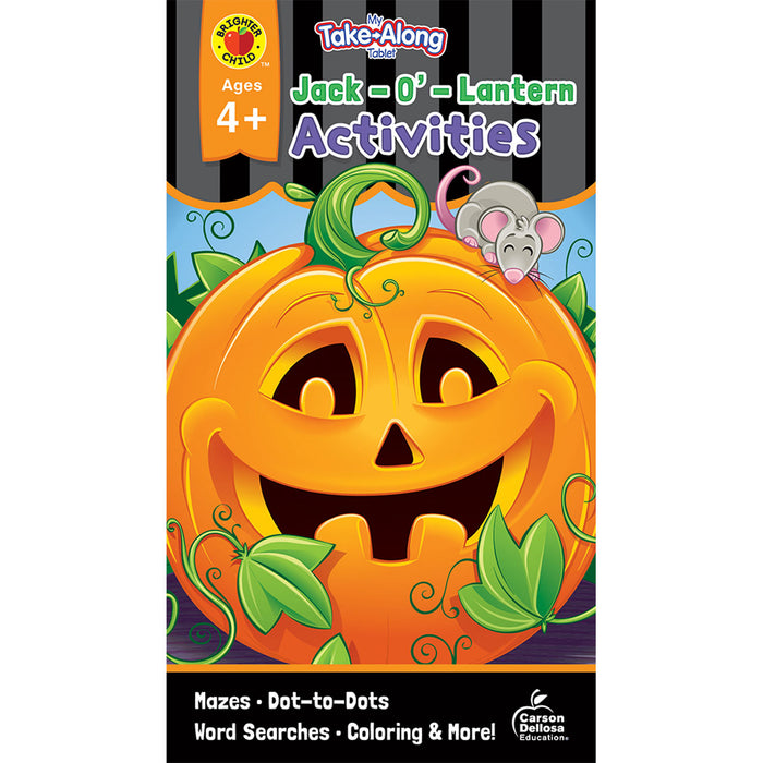 (12 Ea) Jack-o-lantern Activities Ages 4-5 My Take-along Tablet