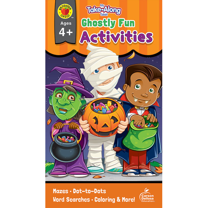 Ghostly Fun Activities Ages 4-5 My Take-along Tablet