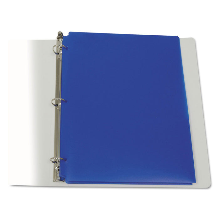 C-line Blue 25ct Two Pocket Poly Portfolios With Three-hole Punch