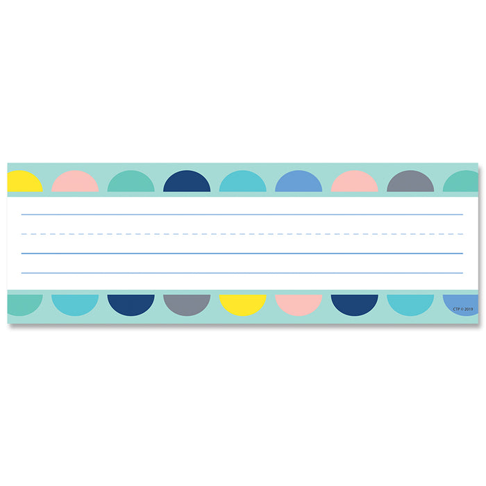 (6 Pk) Half-dots On Turquoise Name Plates Calm & Cool