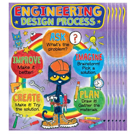 (6 Ea) Pete The Cat Engneering Process Cht