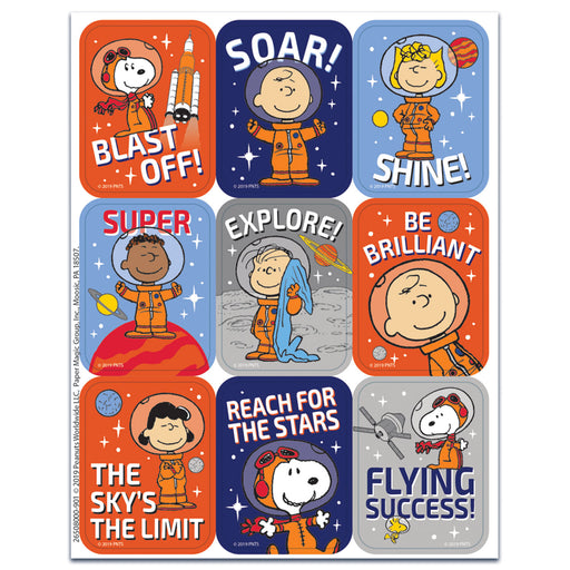 Peanuts Nasa Stickers-giant
