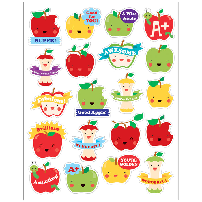 (6 Pk) Apple Stickers Scented