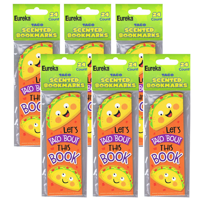(6 Pk) Taco Bookmarks Scented