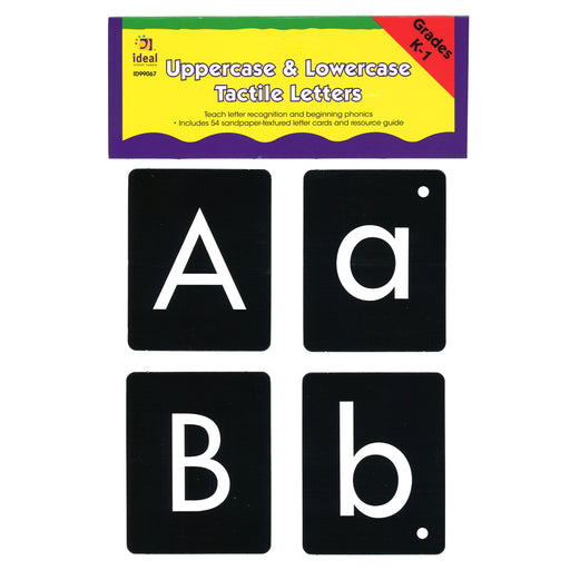 Uppercase-lowercase Tactile Letters