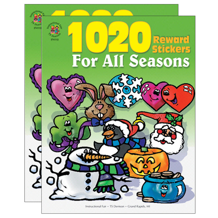 (2 Pk) Sticker Book For All Seasons 1020pk