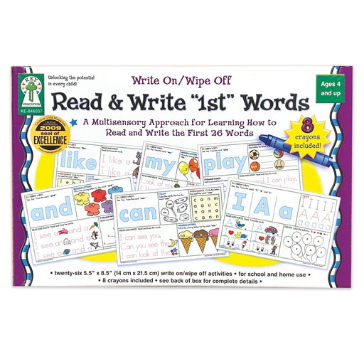 Write On-wipe Off Read & Write 1st First Words Ages 4+