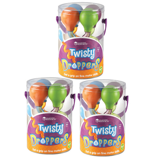 (3 Pk) Twisty Droppers 4 Per Set