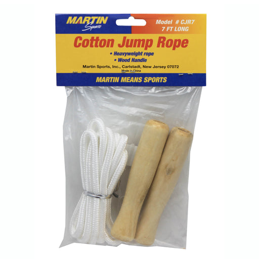 Jump Rope Cotton Wood Handle 7ft