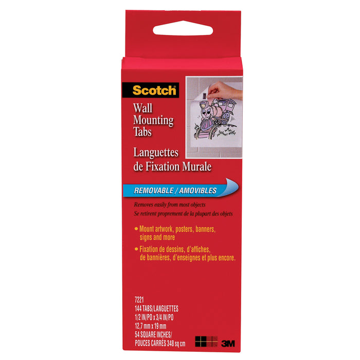 Wall Mounting Tabs-144 Pkg 1-2x3-4