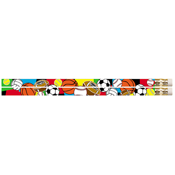 Super Sports 144pk Motivational Fun Pencils