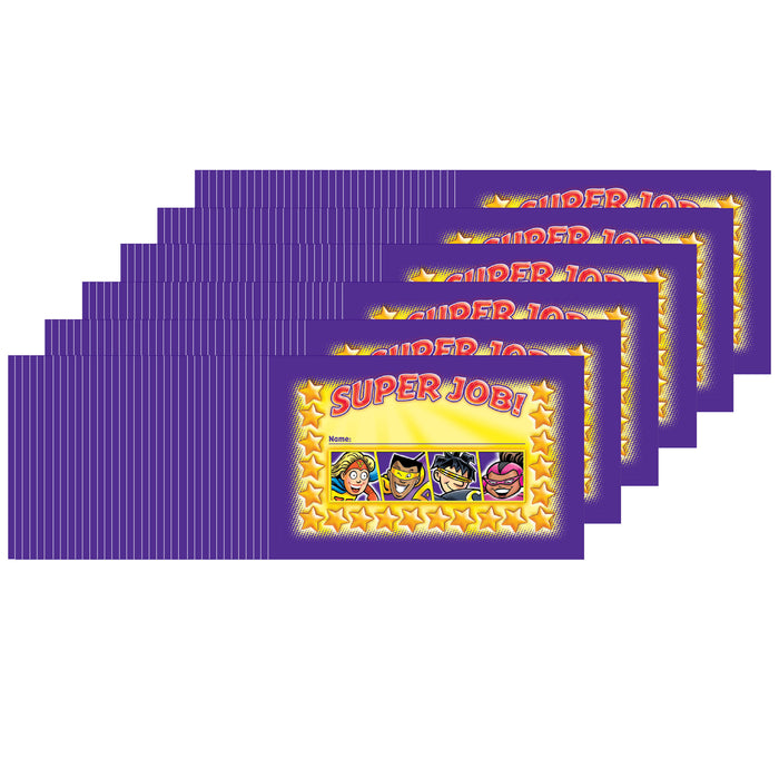 (6 Pk) Super Job Incentive Punch Cards
