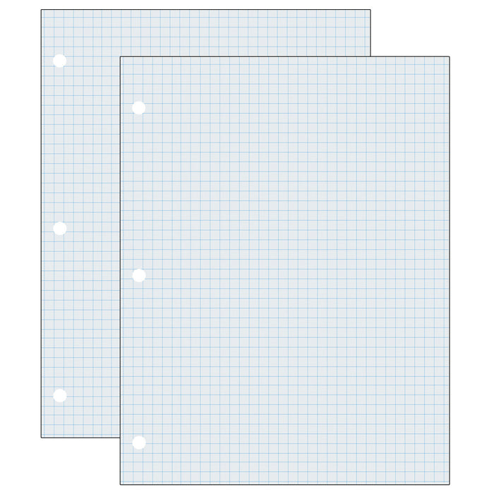 (2 Pk) Graphing Paper Wht 2 Sided 500 Shts
