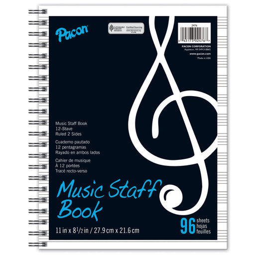 Music Staff Paper Book