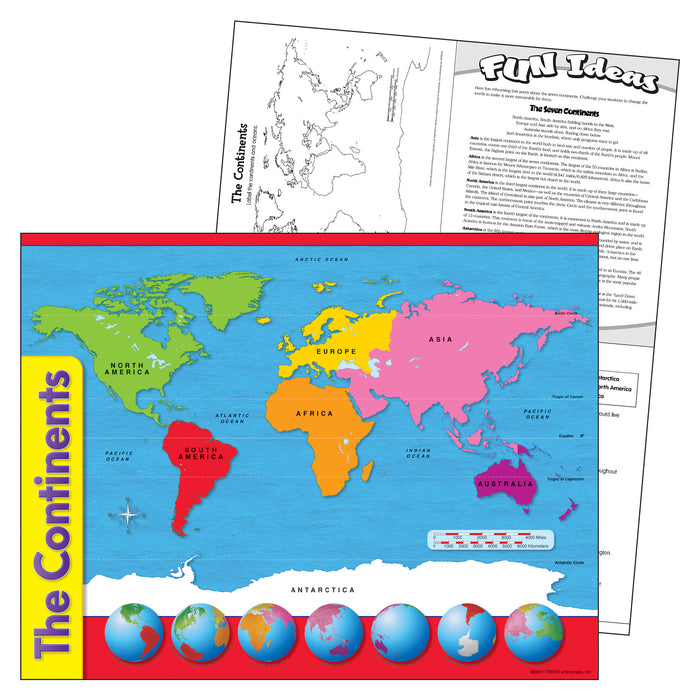 (12 Ea) Chart The Continents