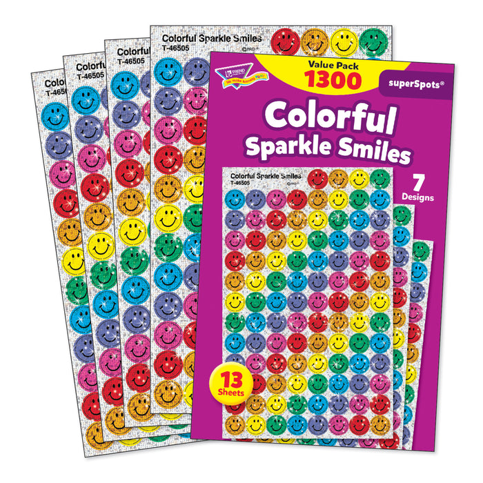Superspots Variety 1300-pk Colorful Smiles Sparkle