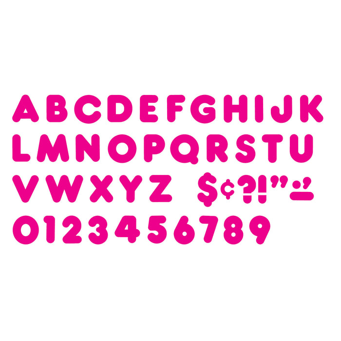 (6 Pk) Ready Letters 4in Deep Pink Casual