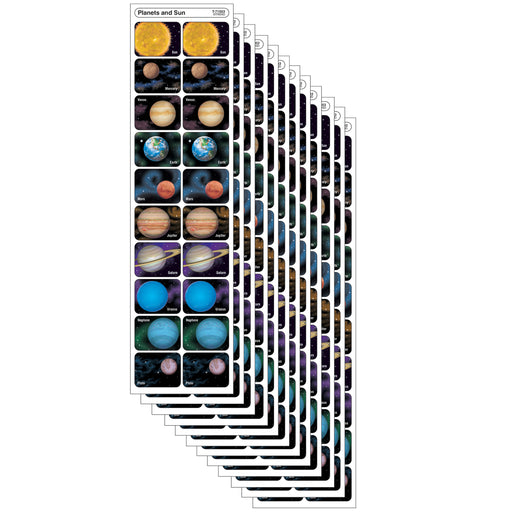 (12 Pk) Planets And Sun Discovery Stickers